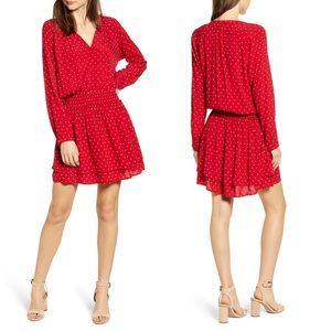 Rails Jasmine Scarlett Red Mini Dots Tier Dress